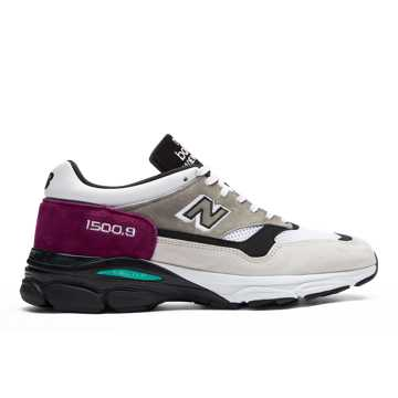 New Balance 1500.9 Made in UK, Light Grey with Claret & Black