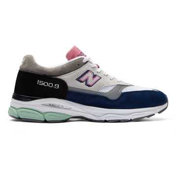 New Balance 1500.9 Made in UK, White with Navy & Black
