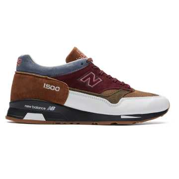 New Balance Made in UK 1500 Scarlet Stone, Burgundy with White & Burnt Orange