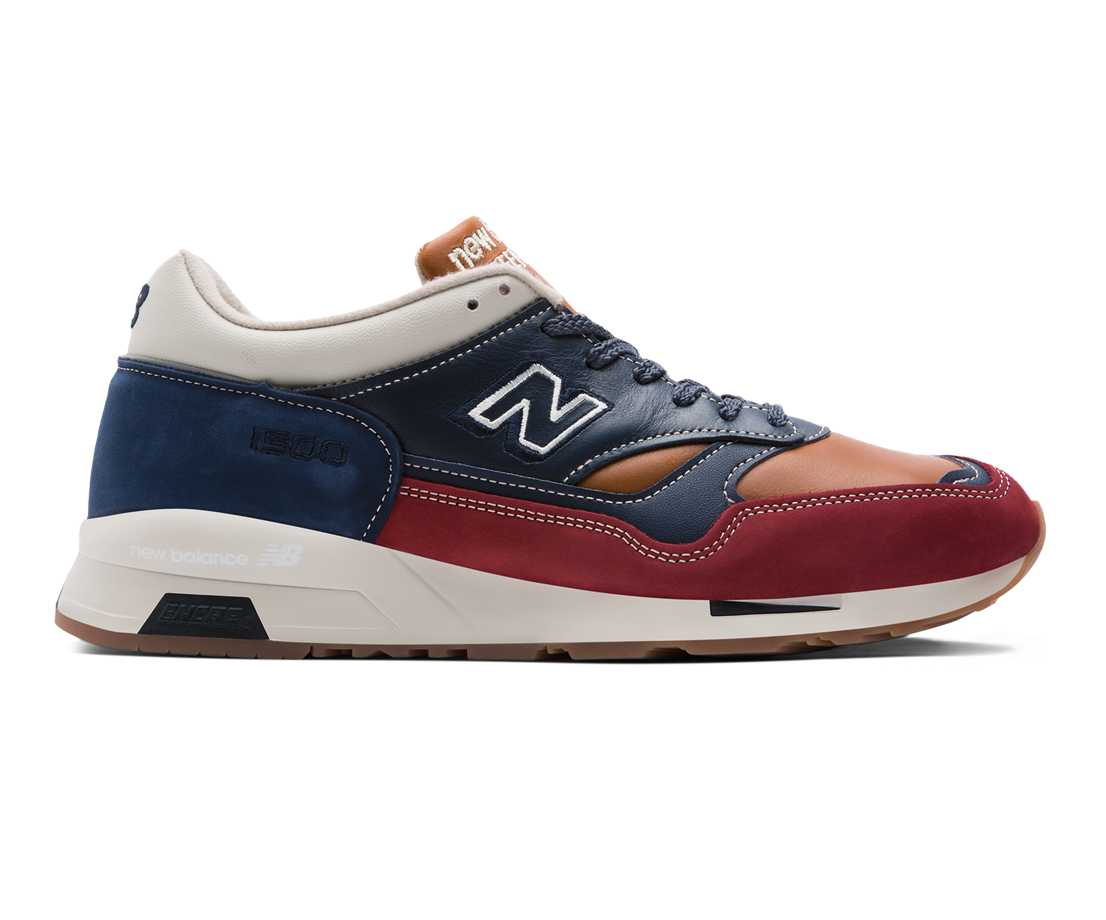 NB Made in UK 1500, Navy with Rust & Camel