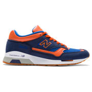 New Balance Made in UK 1500 Nubuck, Navy with Orange