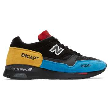 New Balance Made in UK 1500 Urban Peak, Black with Blue & Yellow