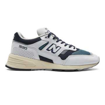 New Balance 1530 Made in UK, Grey with Navy & Petrol