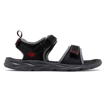 New Balance Response Sandal, Black with Grey