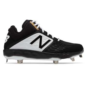 New Balance Mid-Cut 3000v4 Metal, Black with White