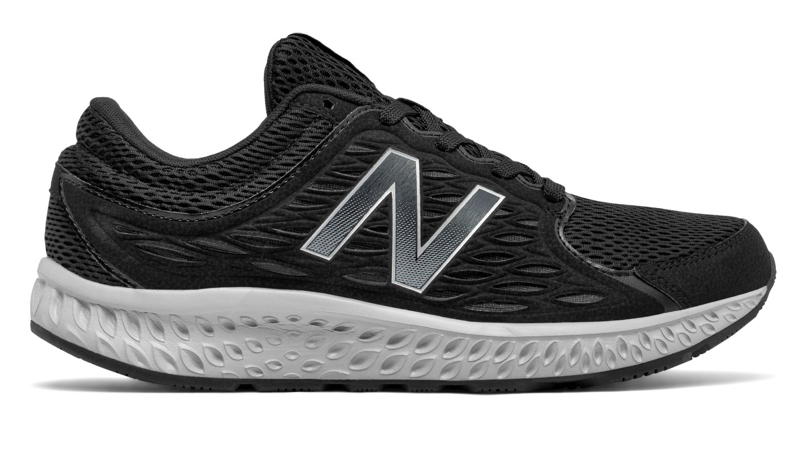 new balance men's 420v3 shoes black with grey & silver