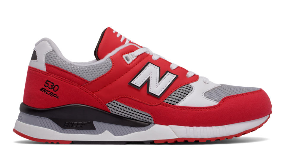 new balance shoes red. nb 530 leather textile, red with grey \u0026 white new balance shoes