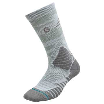 New Balance New Balance x Stance Hoops Socks, Rain Cloud with White