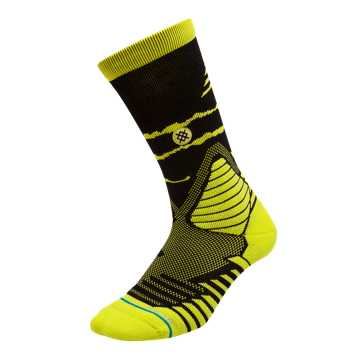 New Balance New Balance x Stance Hoops Socks, Sulphur Yellow with Black