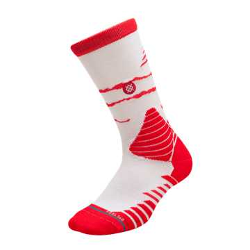 New Balance New Balance x Stance Hoops Socks, Energy Red with White
