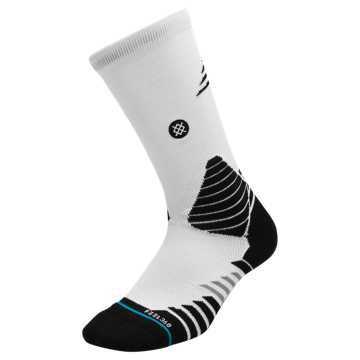 New Balance New Balance x Stance Hoops Socks, White with Black