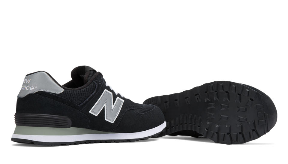 new balance yoga shoes. nb 574 core, black with grey new balance yoga shoes