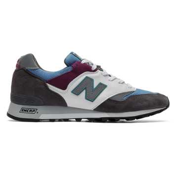 New Balance Made in UK 577 Mountain Wild, Dark Grey with Blue & White