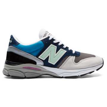 New Balance 770.9 Made in UK, Blue with Grey & Green