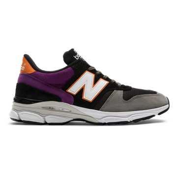 New Balance 770.9系列复古鞋 男款 缓震支撑 耐磨舒适, 黑色/灰色/紫色