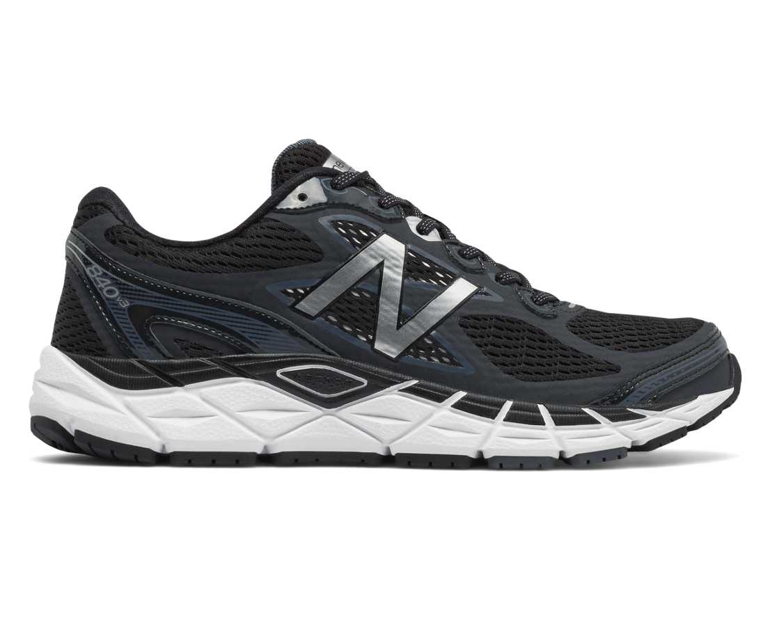 NB New Balance 840v3, Black with White