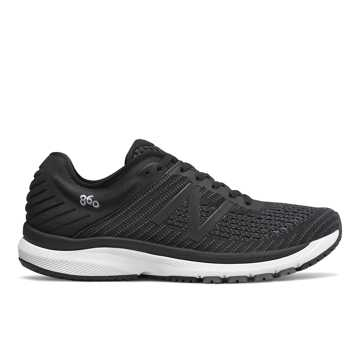 New Balance 860v10, Black with Phantom & Lead