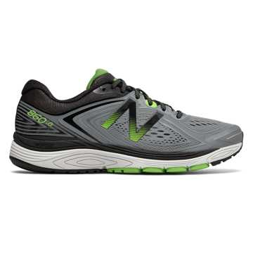 New Balance 860v8, Steel with Energy Lime & Black