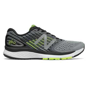 New Balance 860v9, Steel with Hi-Lite & Black