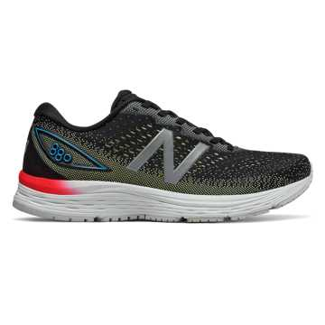New Balance 880v9, Black with Summer Fog & Bayside