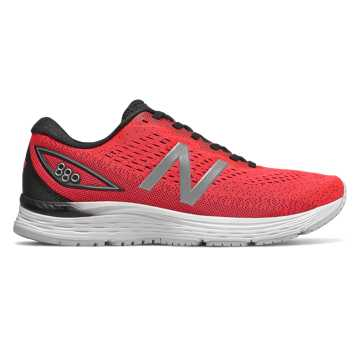 New Balance 880v9, Energy Red with Black & White
