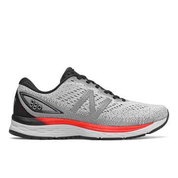 New Balance 880v9, White with Black & Energy Red