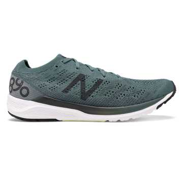 New Balance 890v7, Dark Agave with Orca & Bleached Lime Glo