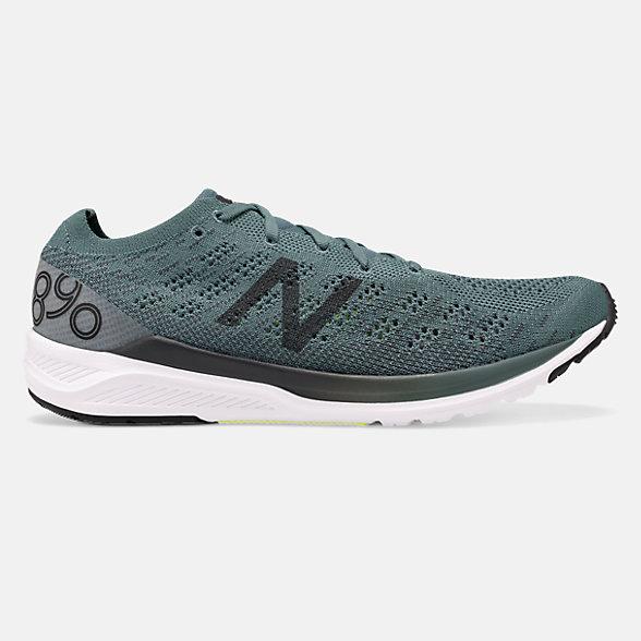 New Balance 890V7男款跑步鞋 轻量缓震 升级提速, M890GG7