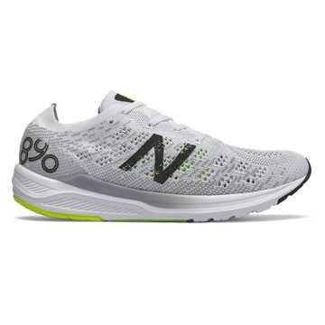 New Balance 890v7, White with Black & RGB Green