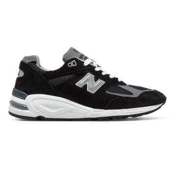 New Balance 美国原产990V2男女同款复古休闲鞋, 黑色