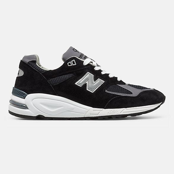 New Balance 美国原产990V2男女同款复古休闲鞋, M990BK2