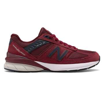 New Balance Made in US 990v5, Burgundy with Navy
