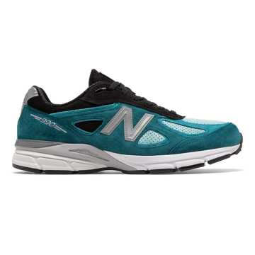 New Balance Mens 990v4 Made in US, Moroccan Blue with Dark Cyan