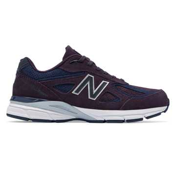 New Balance Mens 990v4 Made in US, Elderberry with Pigment