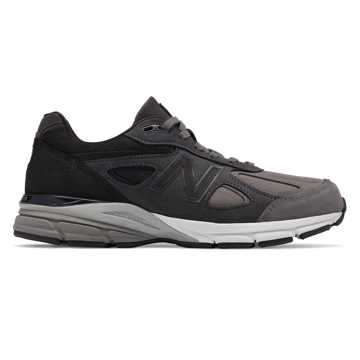 New Balance Mens 990v4 Made in US, Grey with Black