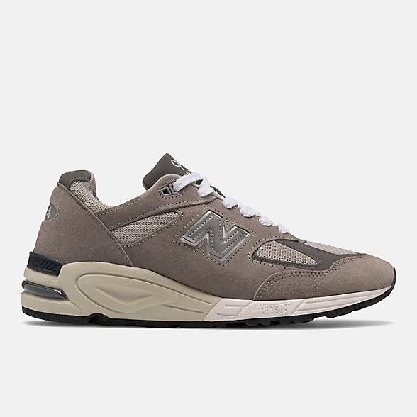 New Balance 美国原产990V2男女同款复古休闲鞋, M990GY2