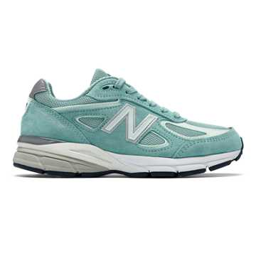 New Balance Mens 990v4 Made in US, Mineral Sage with Seafoam