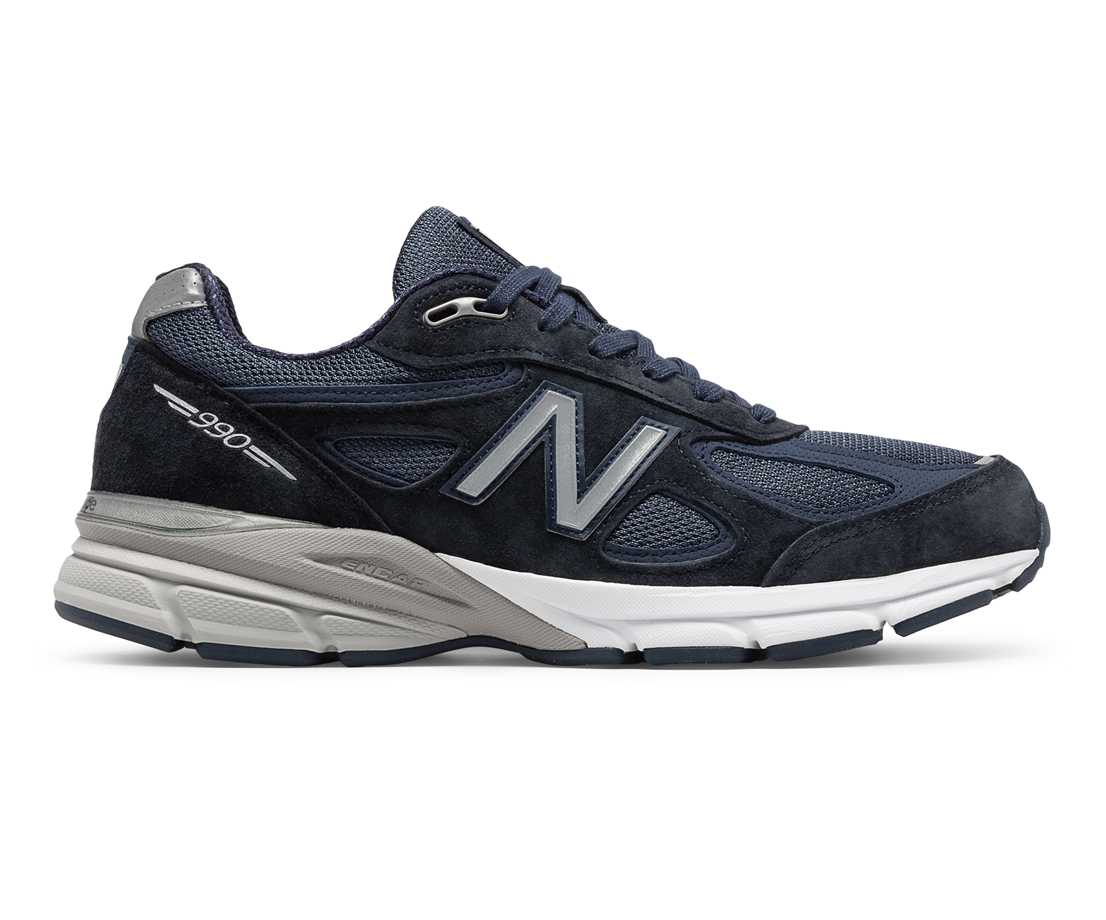 NB 990v4 Made in US, Navy with Silver