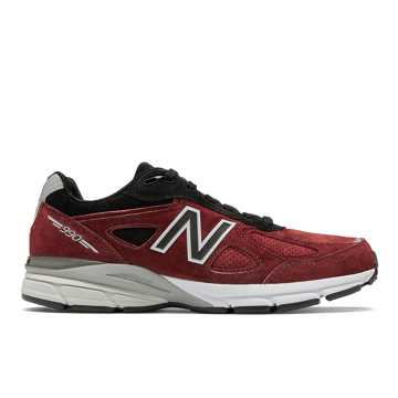 New Balance Mens 990v4 Made in US, Mercury Red with Black