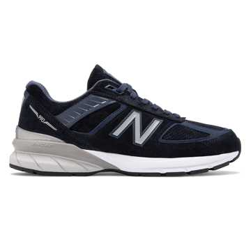 New Balance Made in US 990v5, NB Navy with Silver & White