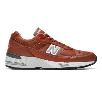 New Balance Made in UK 991, Burnt Orange with Silver & White