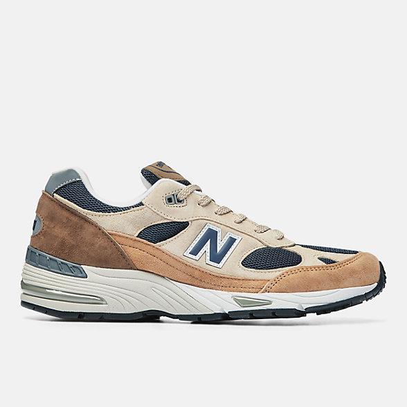 New Balance 英国原产991系列男款复古休闲鞋, M991SBN
