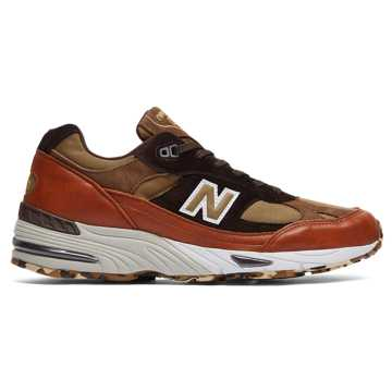 New Balance Made in UK 991, Burnt Orange with Brown & Light Brown