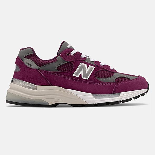 New Balance 美国原产992系列男女同款复古休闲鞋, M992BA