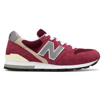 New Balance Made in US 996, Burgundy with Grey