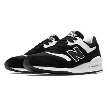 New Balance 997 Made in US, Black with White