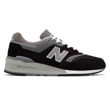 New Balance 美国原产997男女同款复古休闲运动鞋, 黑色