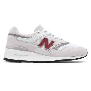 New Balance Made in US 997, White with Silver