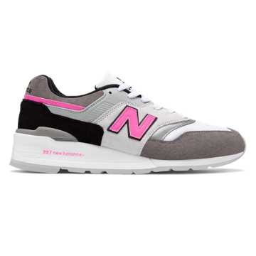 New Balance Made in US 997, Grey with Pink