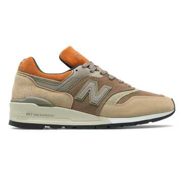 New Balance Made in US 997, Tan with Brown
